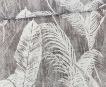 Feste Baumwolle - Palmenwedel - Palme - Blätter - Taupe