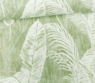Feste Baumwolle - Palmenwedel - Palme - Blätter - Blassgrün