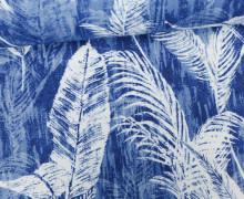 Feste Baumwolle - Palmenwedel - Palme - Blätter - Blau