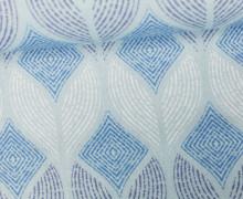 Feste Baumwolle - Rauten - Gemalte Muster - Hellblau/Blau