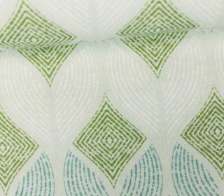 Feste Baumwolle - Rauten - Gemalte Muster - Lichtgrün/Grün