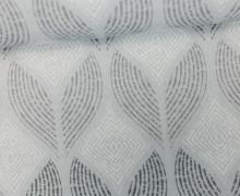 Feste Baumwolle - Rauten - Gemalte Muster - Hellgrau/Grau