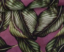 Feste Baumwolle - Leaves - Blätter - Rotviolett