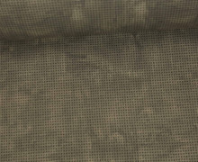 Kunstleder - 140cm - Punkteraster - Dunkelbraun