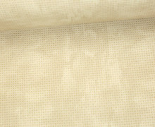 Kunstleder - 140cm - Punkteraster - Vanille
