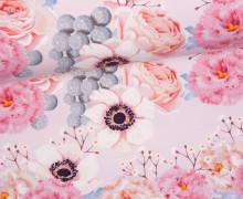 Jersey - GOTS - Bonny Blossom - zart rosa - abby and me