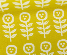 Feste Baumwolle - Little Flowers - Blumen - Grafisch - Tréfle - Kokka - Gelb