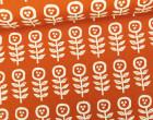 Feste Baumwolle - Little Flowers - Blumen - Grafisch - Tréfle - Kokka - Orangerot