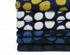 Viskose Jersey - Punkte - Kreise - Gemalt - Nachtblau/Ocker