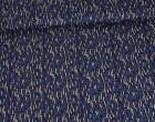 Viskose Jersey - Striche - Pünktchen - Gemalt - Nachtblau