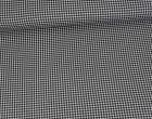 Viskose Jersey - Mini Hahnentritt - Houndstooth - Schwarz/Hellgrau Meliert