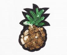 1 Aufnäher - Ananas - klein - Pailletten