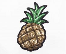 1 Aufnäher - Ananas - mittel - Pailletten