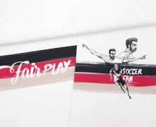 Sommersweat - Bio Qualität - Paneel - Fair Play - Fußballfieber - Weiß - Thorsten Berger - abby and me