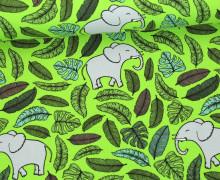 Sommersweat - Happy Elephants - Elefanten - Blätter - Hellgrün