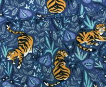 Jersey - Tiger - Dschungel - Jungle - Around the World - Taubenblau dunkel