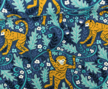 Jersey - Affe - Monkey - Dschungel - Jungle - Around the World - Taubenblau dunkel