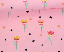 Jersey - Blumen - Ethno Spirit - Rosa