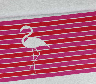 Sommersweat - Paneel groß - Colorful Stripes - Flamingo - rot - pink - meliert - abby and me