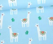 Jersey - Cute Lamas - Llama - Hellblau