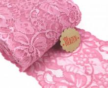1m elastische Spitze - 15cm - Blumen - Altrosa