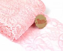 1m elastische Spitze - 15cm - Blumen - Rosa