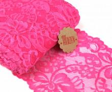 1m elastische Spitze - 15cm - Blumen - Pink