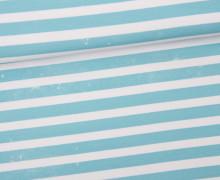 Jersey - Bio Qualität - Kombistoff - Nordic Hipster und Nordic Girl - Summer - Vintage Streifen - Breeze Blue - Thorsten Berger - abby and me