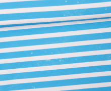 Jersey - Bio Qualität - Kombistoff - Nordic Hipster und Nordic Girl - Summer - Vintage Streifen - Nordsee Blau - Thorsten Berger - abby and me