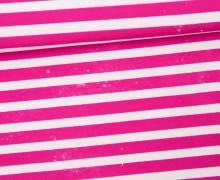 Jersey - Bio Qualität - Kombistoff - Nordic Hipster und Nordic Girl - Summer - Vintage Streifen - Pretty Pink - Thorsten Berger - abby and me