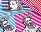 Jersey - GOTS - Paneel - Nordic Hipster - Summer - Vintage Streifen - Nordsee Blau - Thorsten Berger - abby and me
