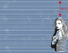 Jersey - GOTS - Paneel - Nordic Girl - Summer - Vintage Streifen - Night Blue - Thorsten Berger - abby and me