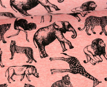Sommersweat - Safari - Tiere - Vintage - Rosa Meliert