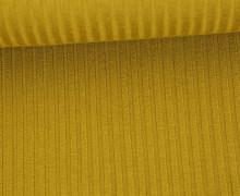 Strickstoff - Grobstrick - Elastisch - Uni - Ocker
