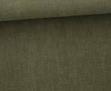 Leinen - gewaschen - Waschleinen - Olivgrün Dunkel