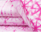Sommersweat - GOTS - Pink Shibori Style - Streifen - abby and me