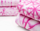 Sommersweat - GOTS - Pink Shibori Style - Stern - abby and me
