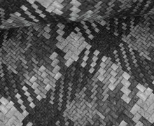 Kunstleder mit Struktur - Rattan Optik - Grau/Anthrazit