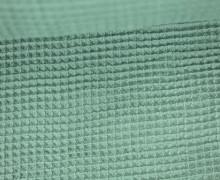 Waffel Piqué - Baumwolle - Meergrün
