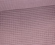 Waffel Piqué - Baumwolle - Altflieder