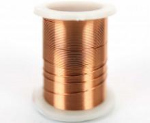 1 Rolle Basteldraht - Dekodraht - Ø 0,3mm - Kupfer hell