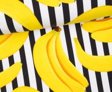 Canvas - Streaky Bananas - Streifen - schwarz/weiß