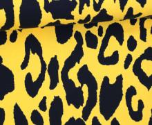Jersey - Leopardenmuster - Leo Print - Gelb