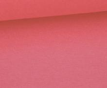 Glattes Bündchen - Uni - Schlauchware - Lachsrosa