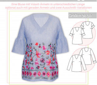 Schnittmuster - Volant-Bluse - No.35 - 34-50 -  lillesol&pelle