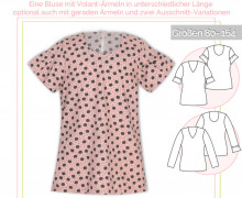 Schnittmuster - Volant-Bluse - No.61 - 80-164 -  lillesol&pelle