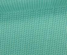 Bio-Jacquard - 3D - Knit Knit - Mono - Hamburger Liebe - Türkis