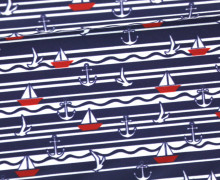 Badelycra - Sail Away - Badestoff -  Nachtblau - abby and me