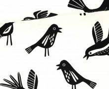 Jersey - Flockprint - Birds - Mono - Vögel - Hamburger Liebe - Weiß