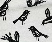 Jersey - Flockprint - Birds - Mono - Vögel - Hamburger Liebe - Grau Meliert